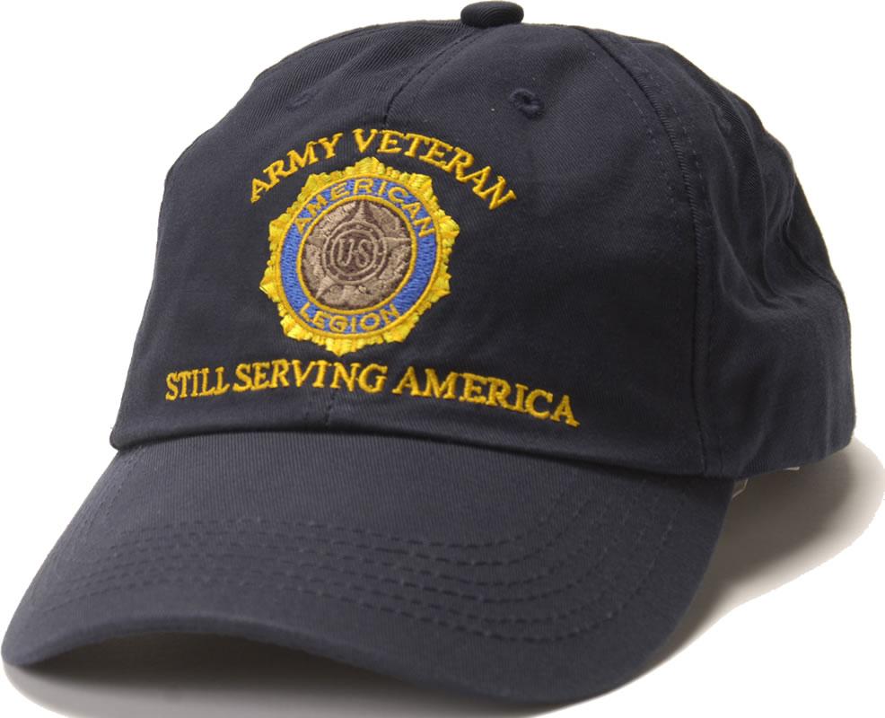 Army Veteran Emblem Cap Americanlegionflags Com