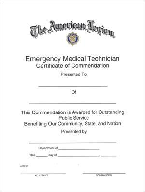 E M T Certificate Americanlegionflags Com
