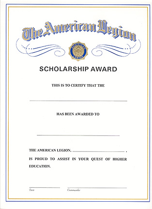 scholarship awards certificates