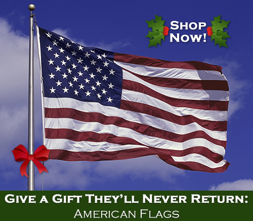 Give a gift they'll never return - American flags