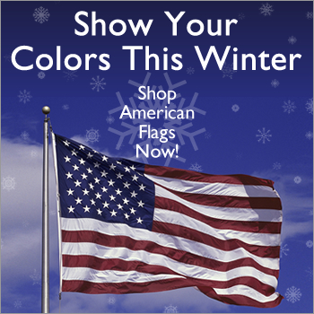 Show your colors this winter - shop American flags!